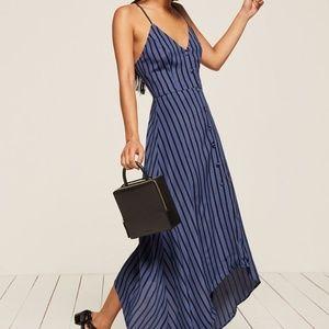 Reformation Blue Stripe Savanah Maxi Dress Size 8